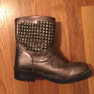 Ash gunmetal boots sz8